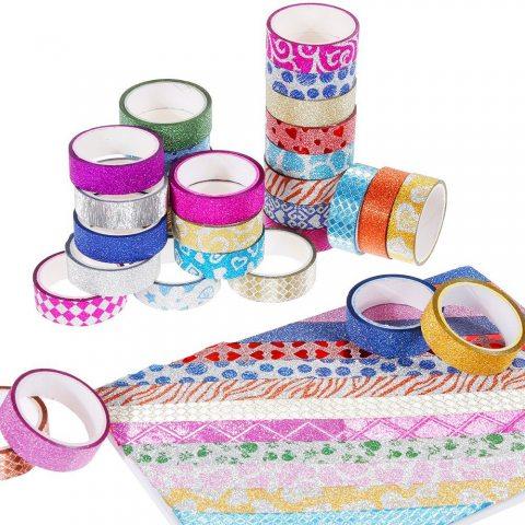 Faburo 30 rouleaux Washi Tape Ruban Adhésif Papier Décoratif Masking tape pour Scrapbooks Bricolage Arts Artisanat Fourniture