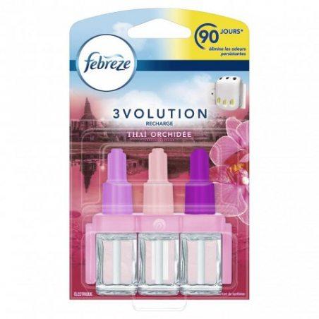 Febreze 3Volution - Recharges pour Désodorisant Électrique Thaï Orchidée - 20 ml