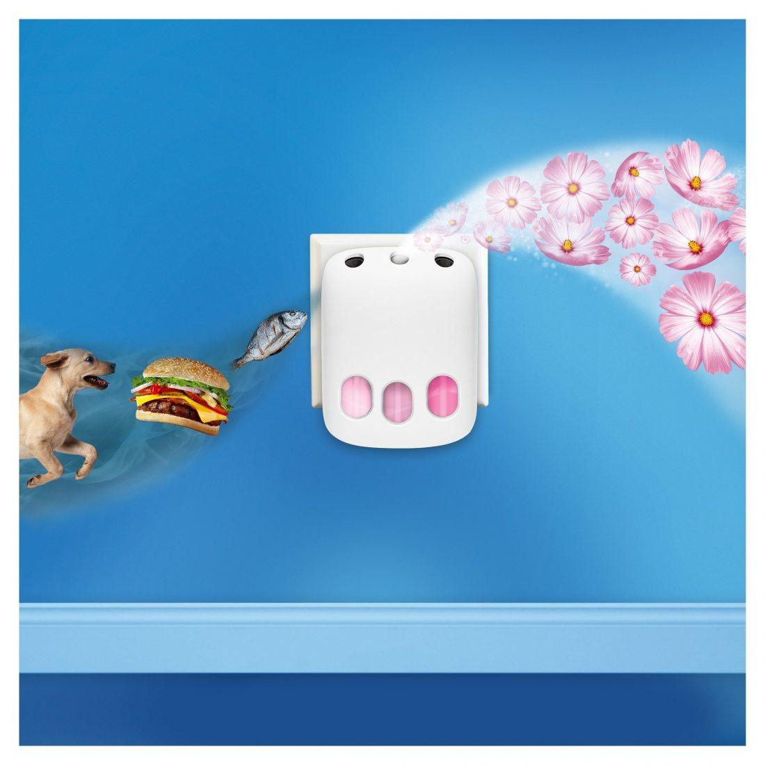Febreze 3 Volution Kit de Démarrage Désodorisant Électrique Rosée du Matin 20 ml