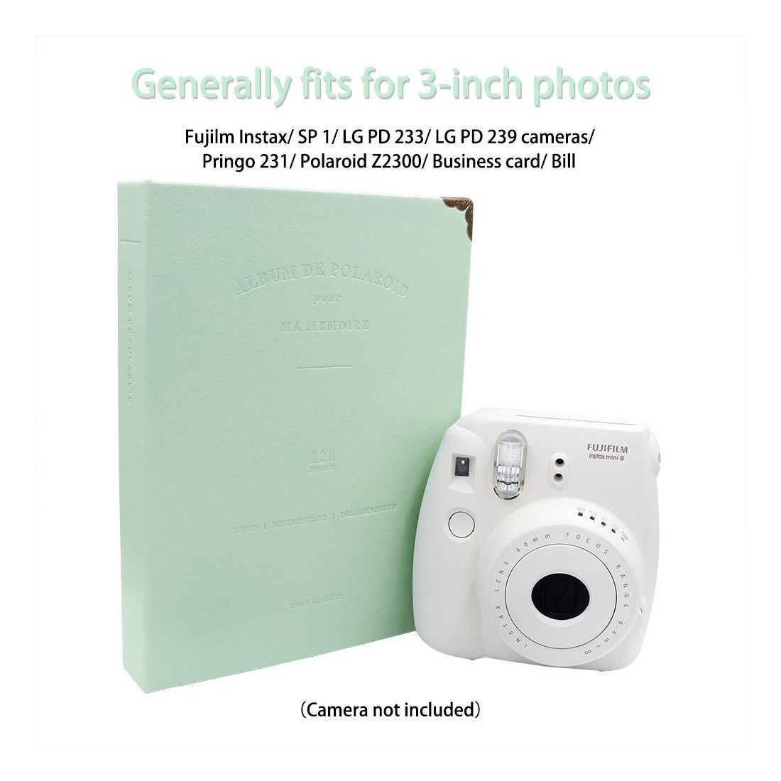 Ablus Store 120poches Mini album photo pour Fujifilm Instax Mini 7S 88+ 92526années 507090appareil photo instantané