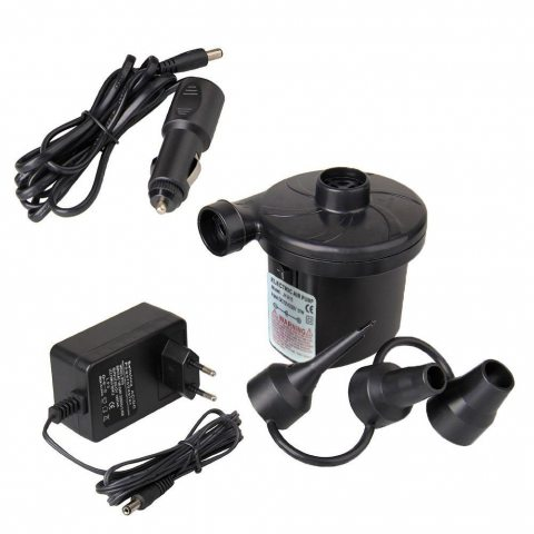 Pompe à air électrique, Good Boutique Pompe électrique + 3embouts pour tuyau air matelas, bateaux, matelas, ou de camping su