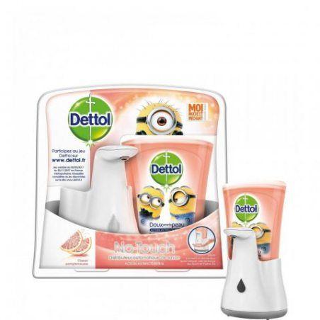 Dettol - No Touch Distributeur Automatique de Savon et Sa Recharge Parfum Classique - 250 ml
