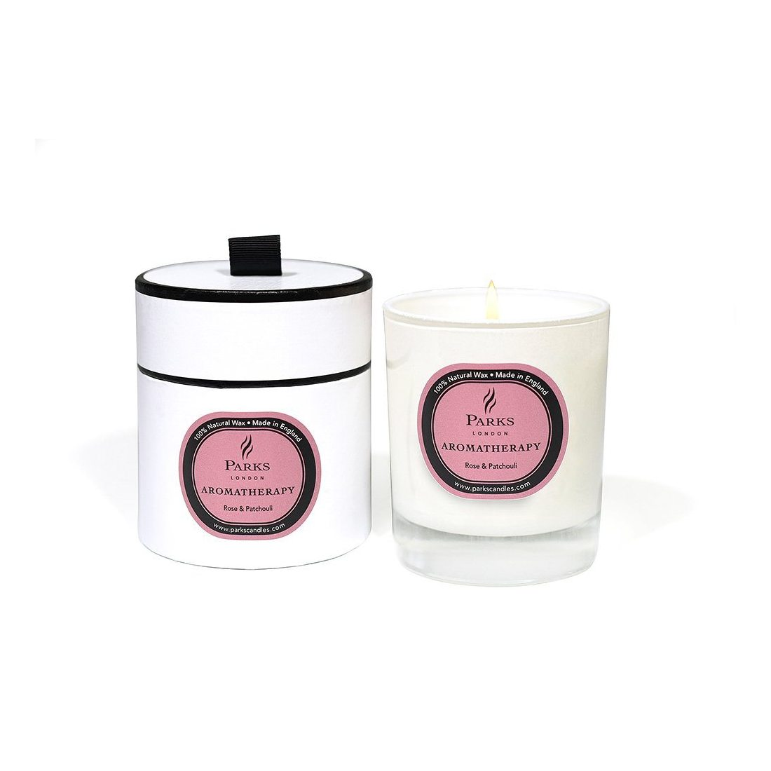 Parks London Aromatherapy Bougie naturelle Rose & Patchouli 235 g Coffret cadeau