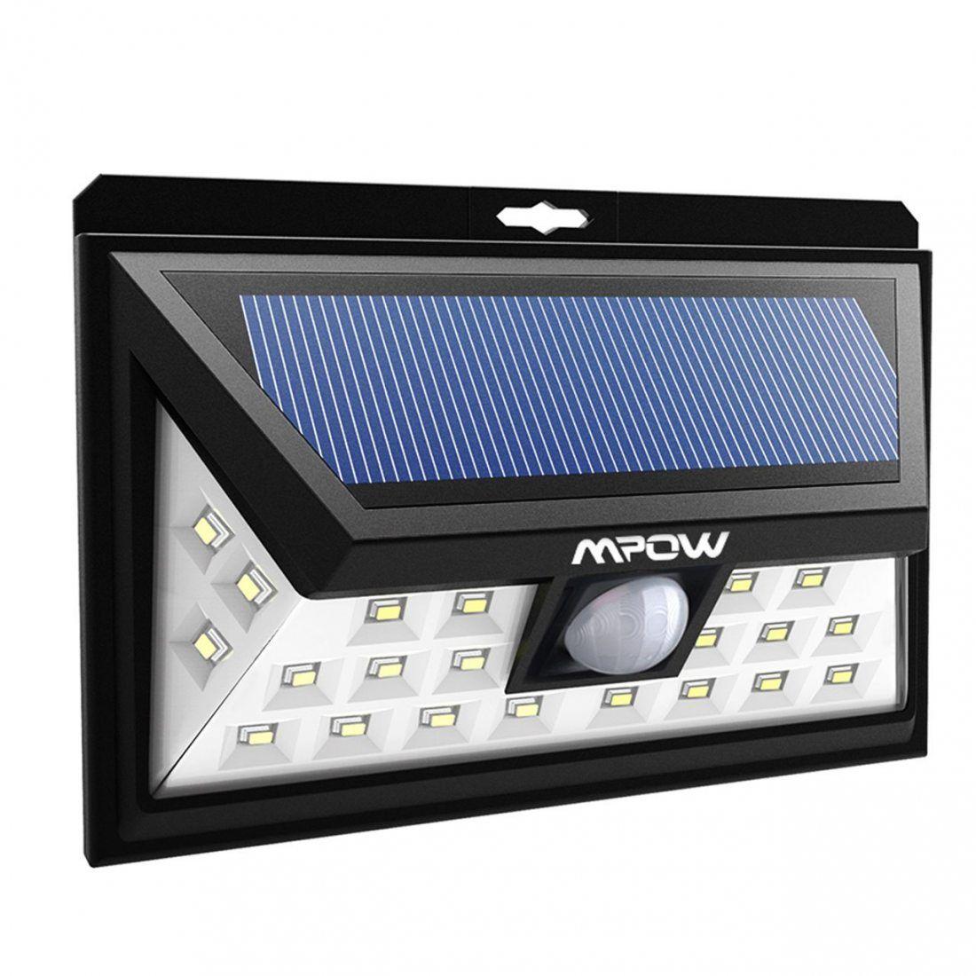 [Nouvelle Version] 24 LED Lampe Solaire Extétieur IP65 étanche sans fil Mpow Luminaire Exterieur 528 Lumens Détecteur de Mouv