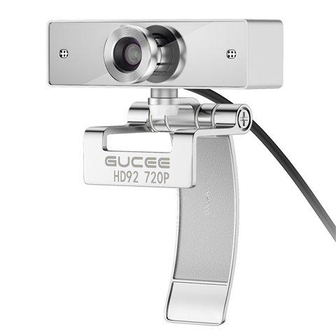 Webcam 720P, GUCEE HD92 Caméra à avec USB à Haut Résolution, Camera à avec Microphone intégré pour PC Ordinateur Portable Mac