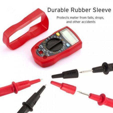 Etekcity Multimètre Numérique Portable Professionnel avec Double Fusibles, Testeur de Voltage AC/ DC, Courant DC, Résistance,