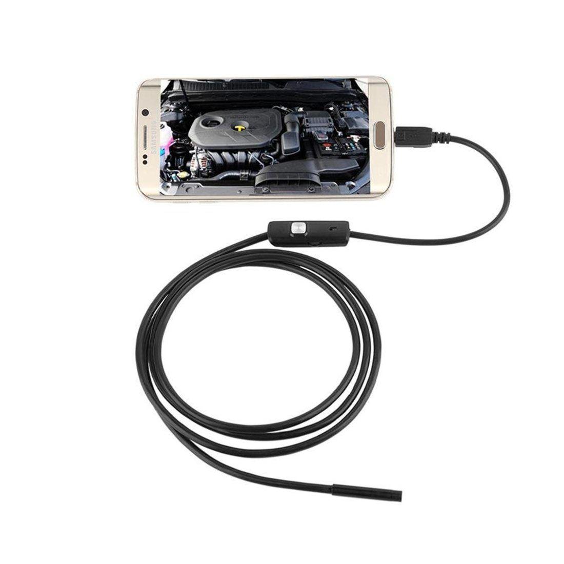 Endoscope USB Android, 5.5mm Microscope Borescope IP67 Imperméable à L'eau D'inspection Snake Caméra avec éclairage LED Régla