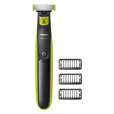 Philips rasoir, tondeuse à barbe One Blade QP2520/20 abwaschbar verde clair, brun gris
