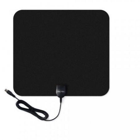 Amplificateur Antenne TNT HD, Pictek Antenne TV Intérieur Puissante Numérique HDTV Amplifiée Ultra-mince 50 Miles Plage avec