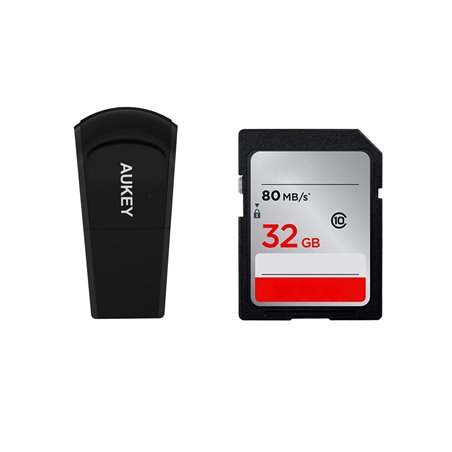 Aukey WF-R4 Adaptateur Wifi et Bluetooth 2 en 1 Wifi USB sans Fil pour Windows 7/8/8.1/10 Noir