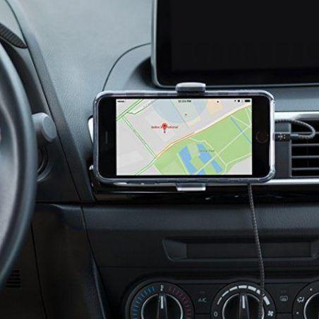 Belkin - Support Universel pour Grille d'Aération Compatible avec tous les Smartphones - Gris Aluminium (Compatible 8/8+ et i