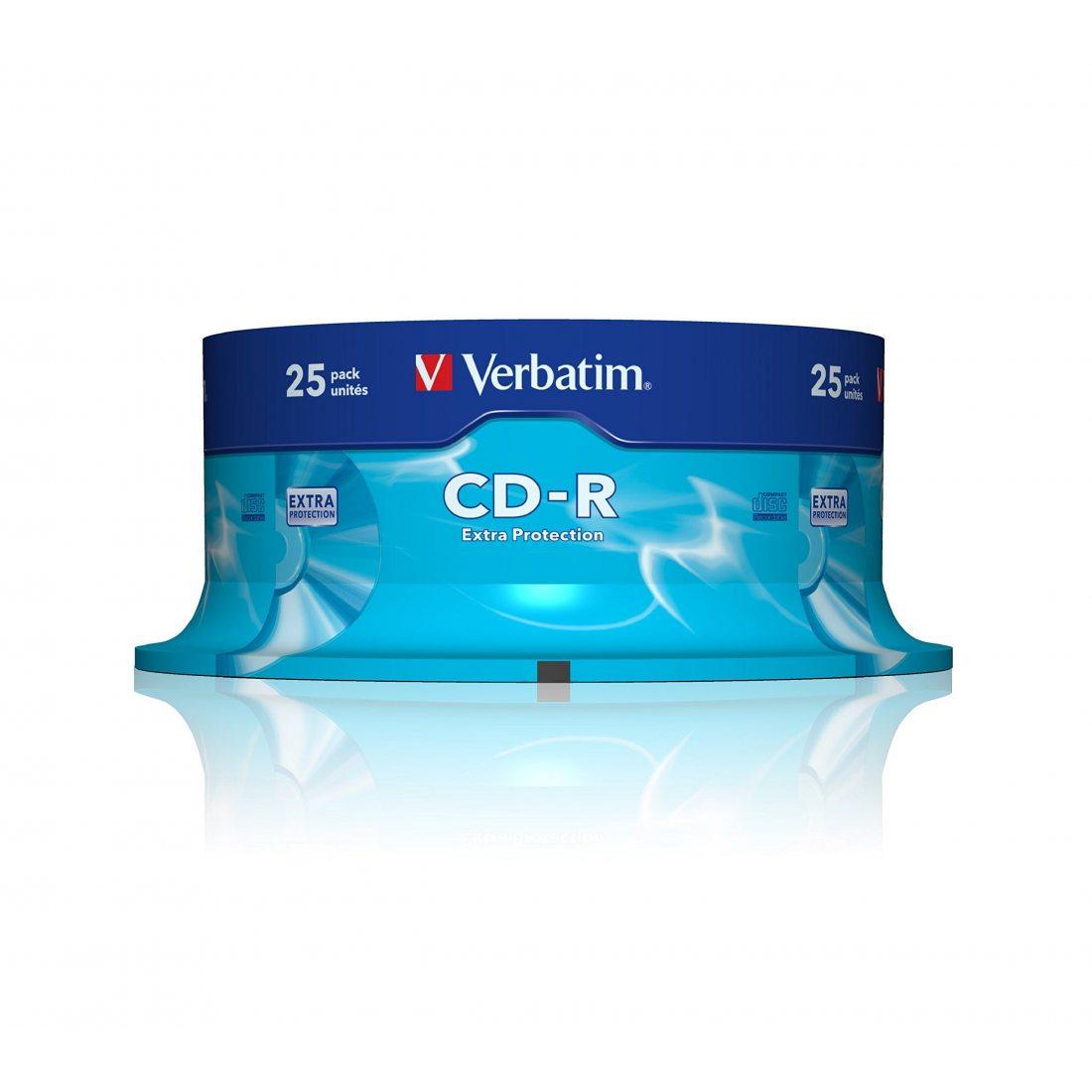 CD-R, 52X, SPINDLE X25 43432 By VERBATIM