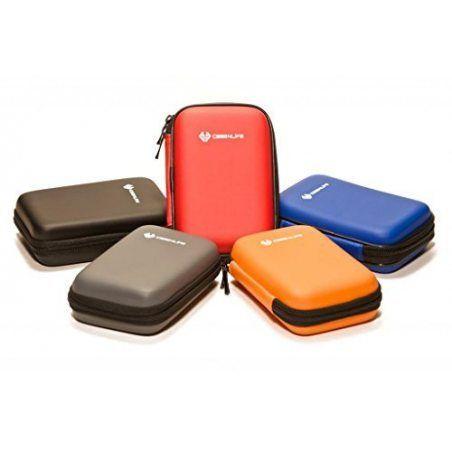 """Case4Life Orange 2,5"""" rigide housse Étui disque dur externe pour Western Digital WD Elements / My Passport Ultra / Edge / Mac"""