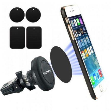 iVoler Support Voiture Téléphone Magnétique Support Smartphone à la Grille de Ventilation pour iPhone X / 8 / 8 Plus / 7 / 7