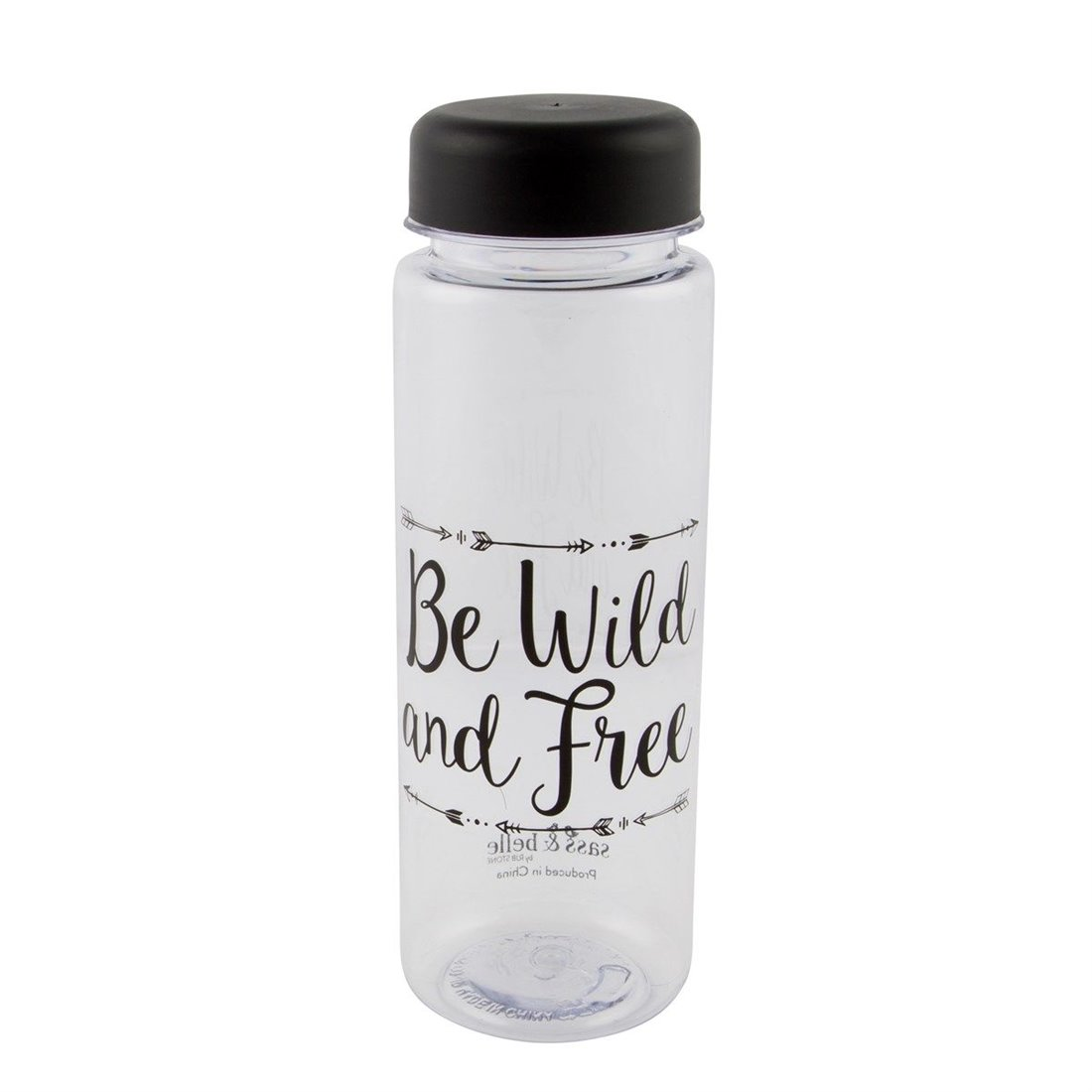 Sass & Belle Bouteille blanc / ecru 'Be wild and free'