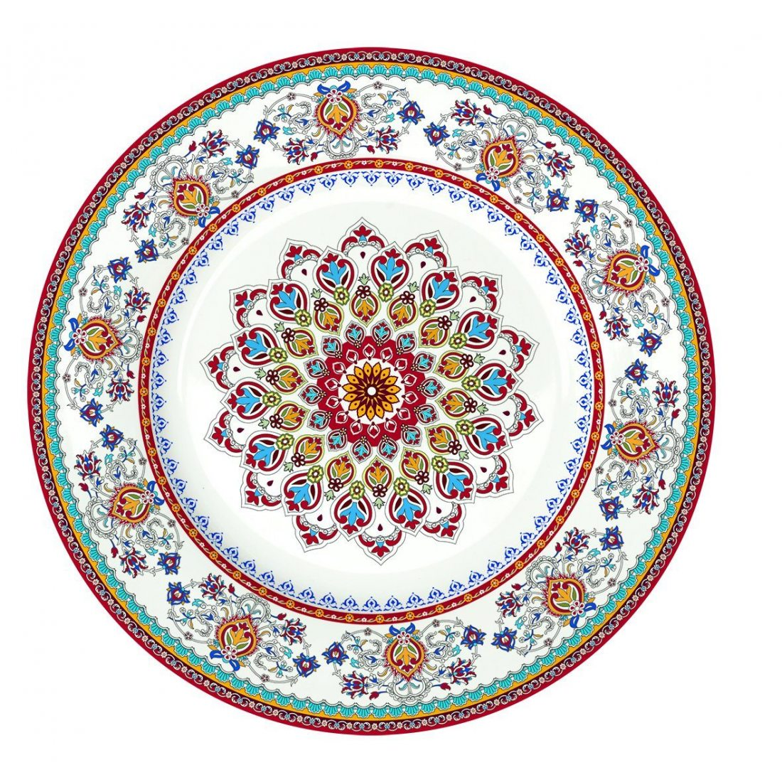 R2S 944BOHE Bohemian Assiette Dessert Céramique Multicolore 19 X 19 X 2 cm