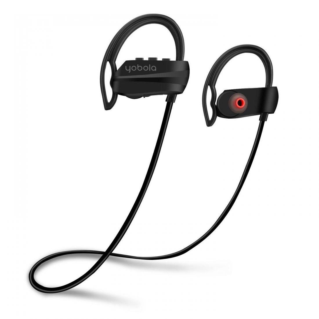 Yobola Ultra Longue Autonomie Écouteurs Bluetooth 4.1 Sans Fil Oreillette Intra Auriculaire Casque Sport Etanche Réduction du