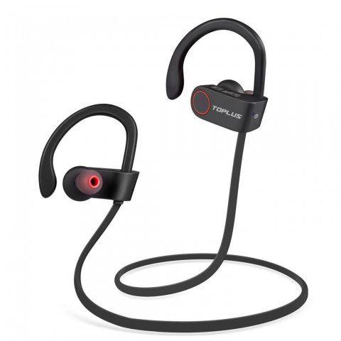 TOPLUS Ecouteur Bluetooth 4.1 - Casque de Sport Oreillette Sans Fil Stéréo compatible avec Apple iPhone, Android, Windows Sma