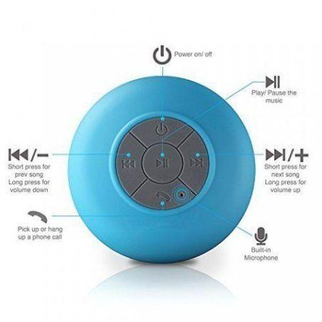 Neuftech - Mini Enceinte Haut Parleur Bluetooth Sans Fil Etanche Portable Stéréo pour la Douche Mains Libres Compatible avec