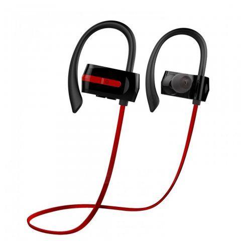 Ecouteurs Bluetooth Premium, RIVERSONG® Soundfit Ecouteurs sans fil Sports avec Sweatproof, AptX, Coupe sécurisée, IPX4, Bass