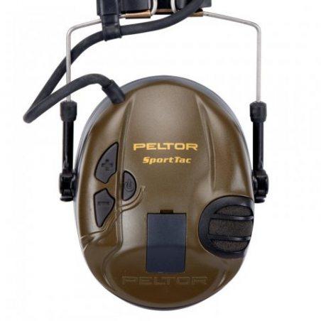 3M Peltor MT16H210F SportTac Casque à Modulation Sonore pour la Chasse, Brun/Noir