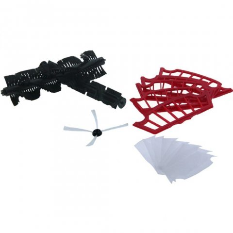 H.Koenig K22 Kit Accessoire pour Aspirateur Robot SWR22 Noir/Rouge