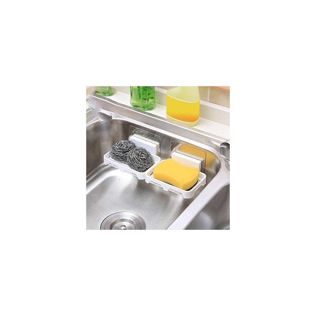 Facile fixer kurelle porte savon salle de bain support eponge plastique produit vaisselle - Porte eponge et produit vaisselle ...
