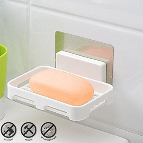 Facile à FixerKurelle Porte-Savon Salle de Bain / Support Eponge Plastique Produit Vaisselle Evier Cuisine et Salle de Bain