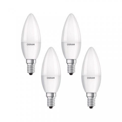 Osram 4058075819610 Ampoule LED Plastique 5,00 W E14 Blanc 4 pièces