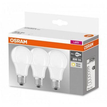 OSRAM ampoule LED E27 BASE Classic A / 9.5 W - Equivalence incandescence 60 W, ampoule LED forme classique / mat, blanc chaud