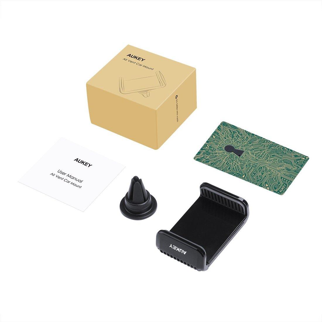AUKEY Support Téléphone Voiture Support à Grille d'aération avec Rotation à 360 Degrés Support Airframe pour iPhone 7 / 7 Plu
