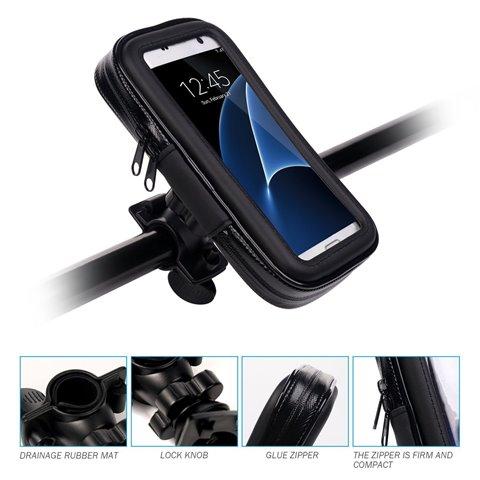 Support Etanche Téléphone, Support Moto Vélo Universel Réglable Support de Téléphone, Rotation à 360°pour iPhone 6 Plus/6S Pl