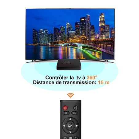 【Verison Pure】GooBang Doo 2017 ABOX Pro Android 6.0 TV Box Avec la plus Récente Télécommande RF (15 Mètres de Portée de Trava