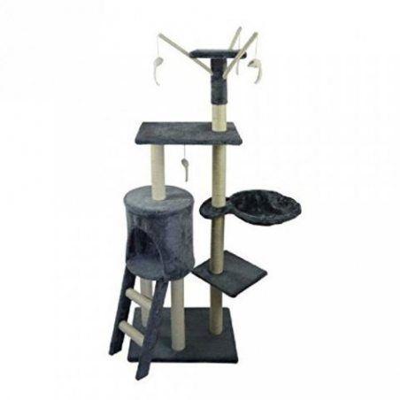POILS & PLUMES Le Magique Arbre a chat - Griffoir - 50x35x138 cm