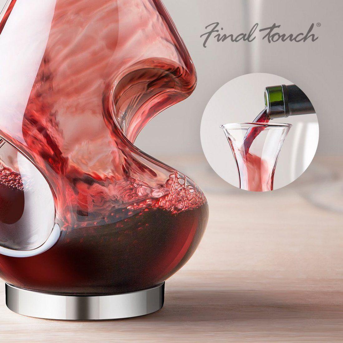 Final Touch Conundrum Aérateur de vin Decanter potable Cadeau clair,