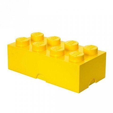 LEGO Boîte de rangement Brique 8 plots, Lego (Jaune)