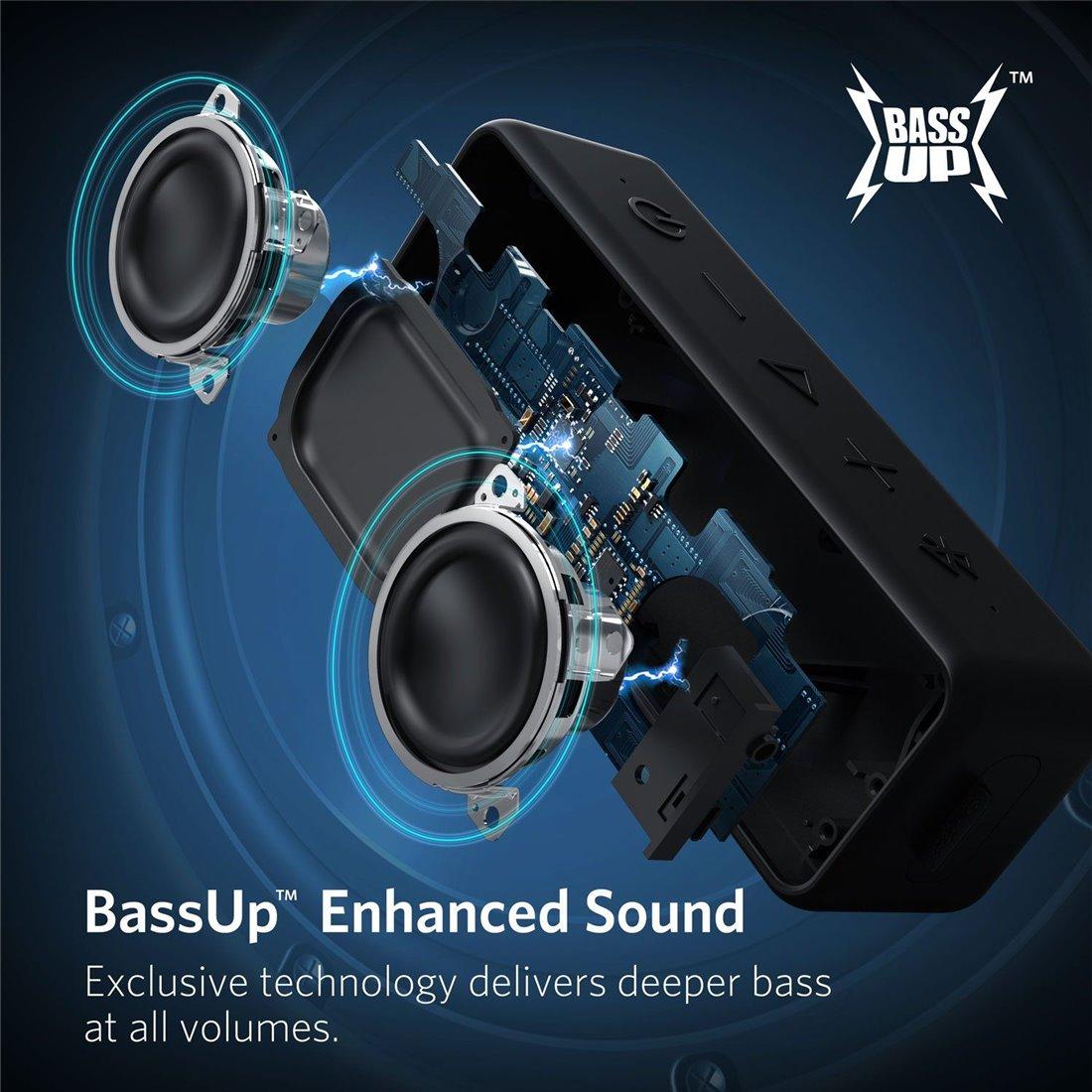 Enceinte Bluetooth, Anker SoundCore 2 Haut Parleur Portable sans fil avec basses puissantes, autonomie de 24 heures, porté Bl