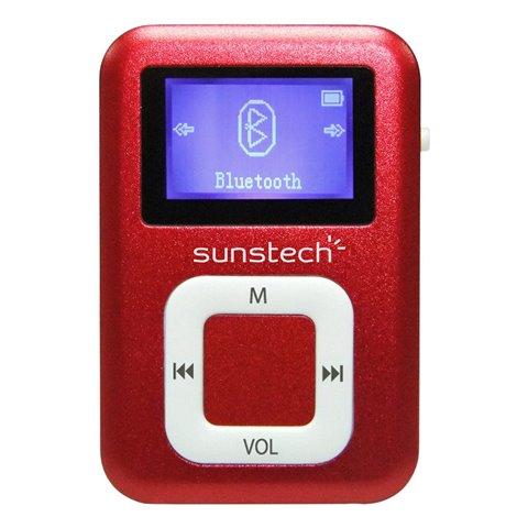 """Sunstech DEDALOBT4GBRD Lecteur MP3 de 1,1"""" avec écouteurs bluetooth Rouge 4 Go"""
