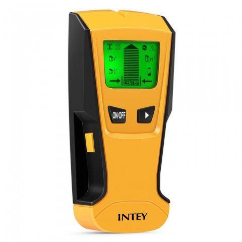 INTEY Détecteur de Matériaux Electrique Multi-fonction Avec Ecran LCD et Bip Sonore Stud Finder 3 en 1 Détecteur Métal/Tensio