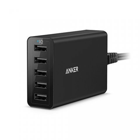 Ancre Power Chargeur Port 40 W de 5 Port USB Multi Port USB Chargeur pour iPhone 6/6 Plus, iPad Air 2/Mini 3, Galaxy S6/S6 Ed