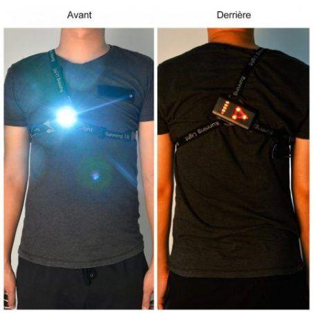 Eclairage Course, Eclairage Sport Myguru Lampe Running LED Rechargeable pour Marche, Lampe Sport de Poitrine, Running Eclaira