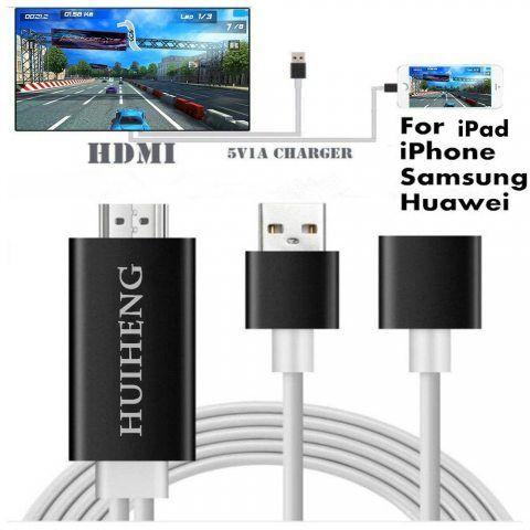 HuiHeng 3 en 1 Full HD Câble HDMI Miroiring Câble HDMI Lightning MHL au Câble HDMI Plug and Play Câble Adaptateur HDTV Pour i