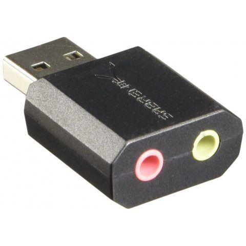 Sabrent USB adaptateur de son stéréo externe pour Windows et Mac. Prêt à l'emploi ne nécessite pas des drivers. (AU-MMSA)