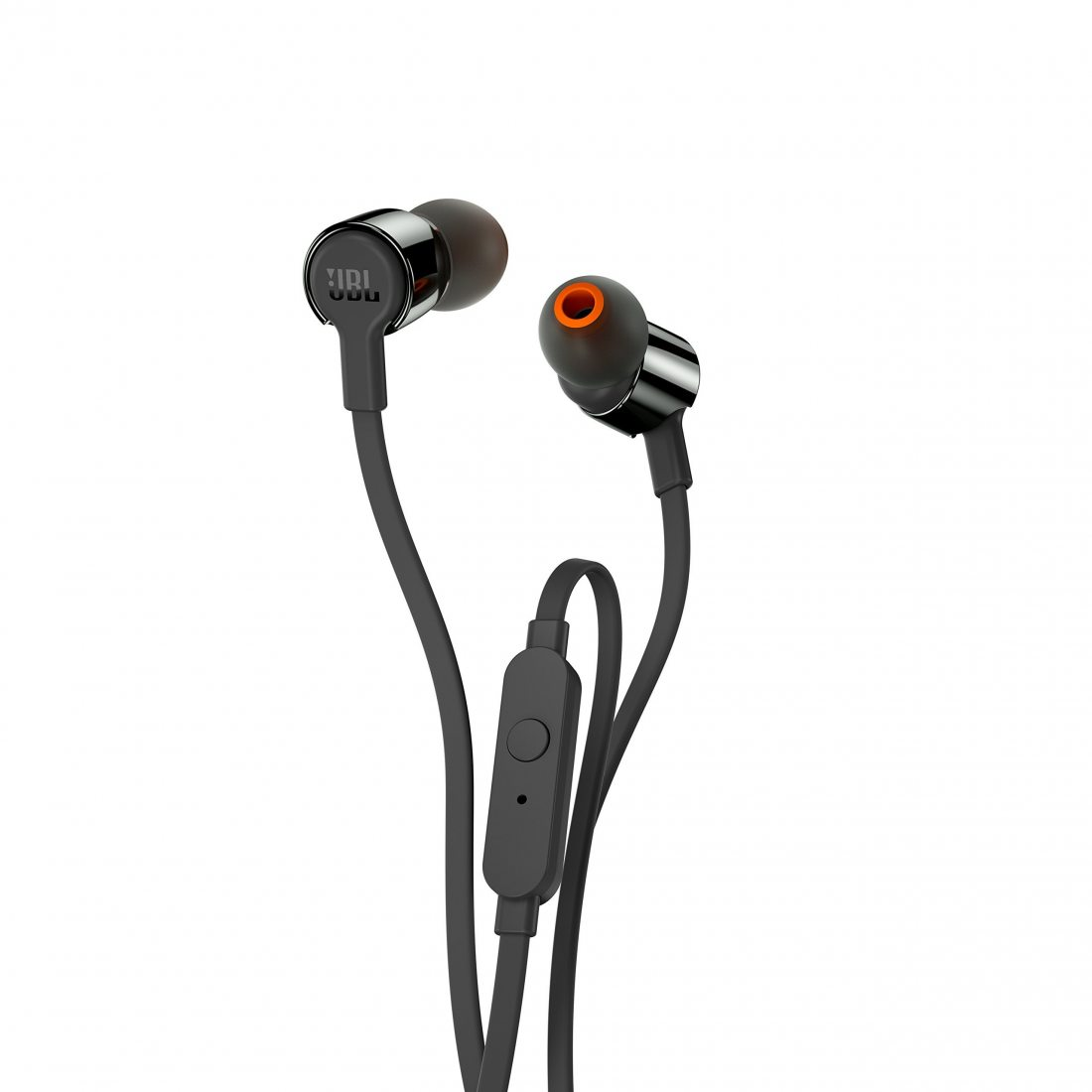 JBL T210 Ecouteurs intra-auriculaires avec Bouton de Commande/Microphone Noir