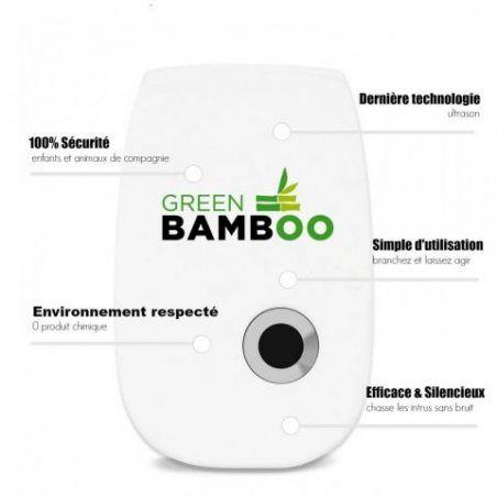 ⭐ [Green Bamboo®] - Ultrason Souris Rats, Répulsif Anti Rongeurs + Ebook Gratuit / *** Lot de 1 & Lot de 2