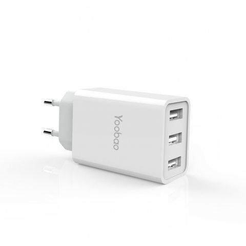 Yoobao YB-723 Chargeur USB Secteur 17W (5V / 3.4A) 3 Petit Port USB Ultra Compact Adaptateur Secteur Mural électrique de Voya