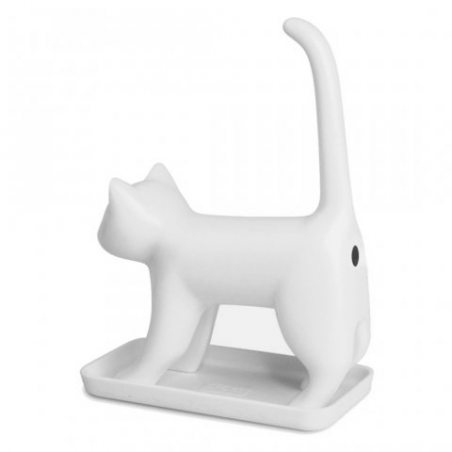 Forte Fin Bum chats miauler taille-crayon Nouveauté cadeau d'amusement - Blanc