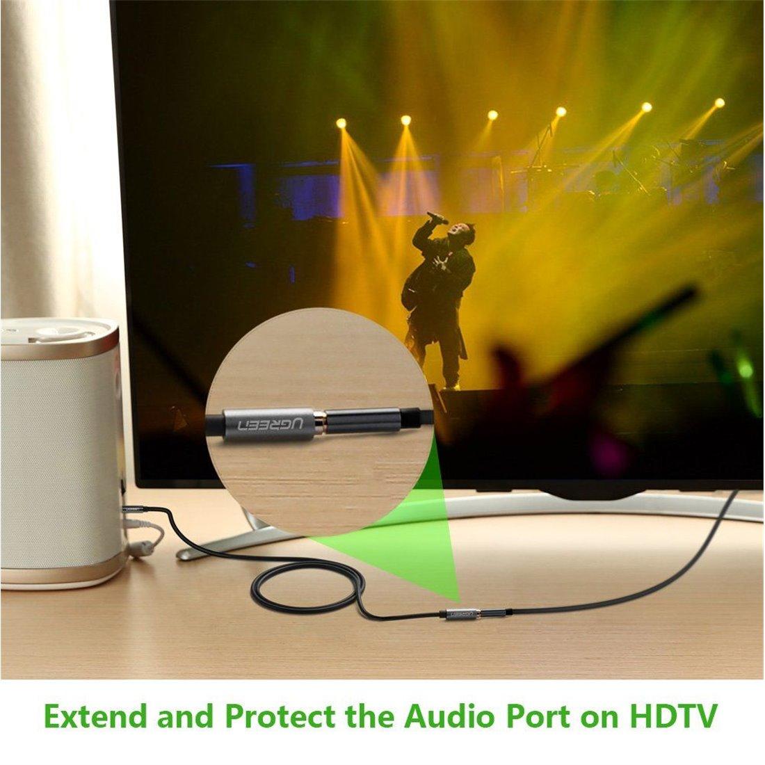 UGREEN Câble Audio Rallonge Audio Câble d'Extension Mâle vers Femelle 3.5mm Jack pour Écouteur Casque PC TV Audio Enceinte Sm