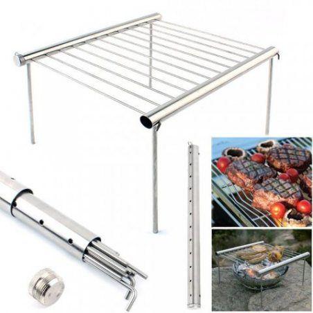 Baffect pliante barbecue grill Rack Portable Grill outils Campact Grill de camping Mini Poche BBQ Grille Barbecue Grille de r