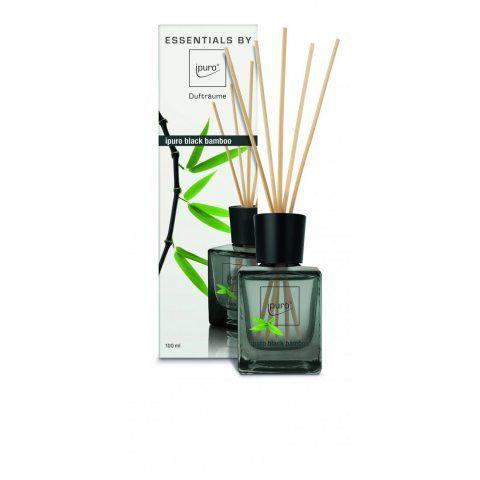 Ipuro IFC0110 Black Bamboo Diffuser Verre Noir 6,1 x 6,8 x 22,4 cm